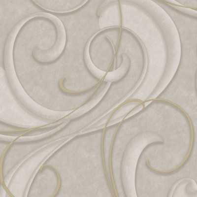 Papel de Parede Flamenco Taupe and Champagne 0,50x10m - Home Finish