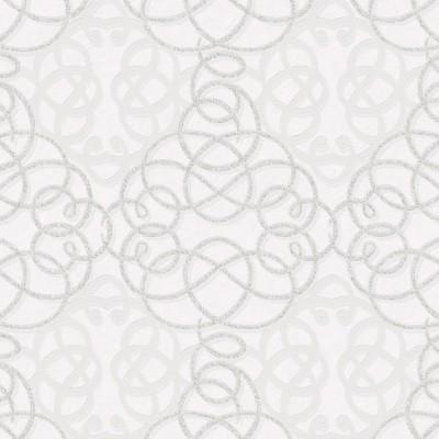 Papel de Parede Ribbon Dance White and SIlver 0,50x10m