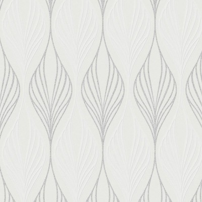 Papel de Parede Optimum White and Silver Wallpaper 0,50x10m  - Home Finish